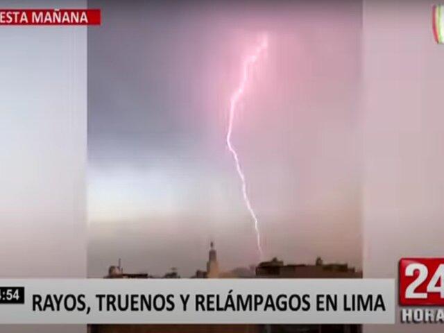 Las mejores imágenes de los rayos, truenos y relámpagos en Lima