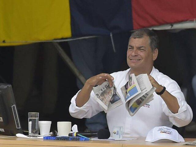 Ecuador: Rafael Correa acosó y puso restricciones a la prensa