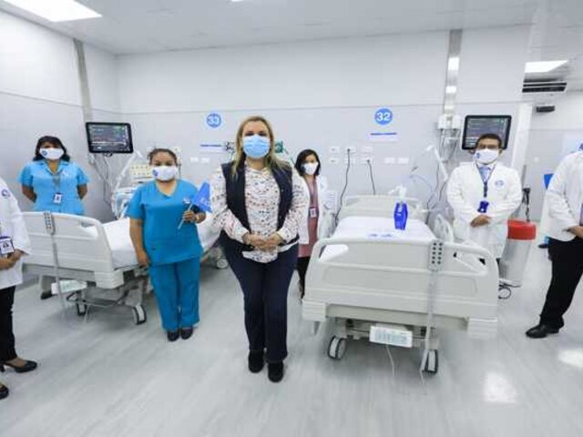 Hospital Mongrut: amplían camas UCI para pacientes con la COVID-19
