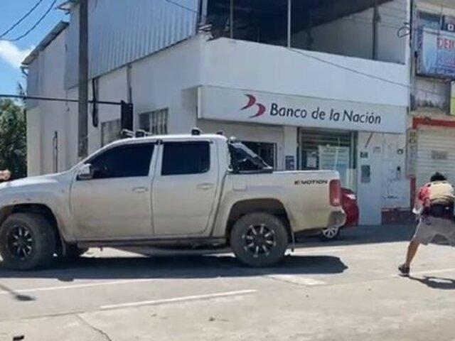 San Martín: PNP frustró asalto a una agencia del Banco de la Nación