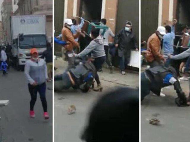 Al menos 17 heridos dejó enfrentamiento entre fiscalizadores y ambulantes en Mesa Redonda