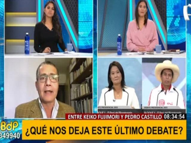 """Iván García sobre debate presidencial: """"Ambos fueron cuidadosos con sus electores ganados"""""""
