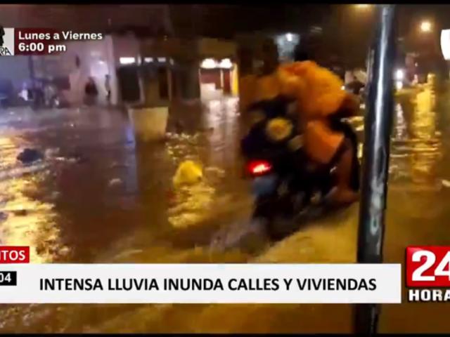 Iquitos: lluvia de casi cuatro horas inundó la ciudad