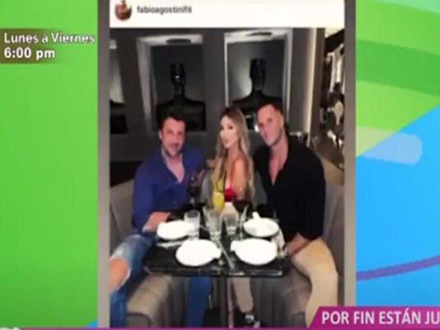 Picantitas del Espectáculo: Paula Manzanal y Fabio Agostini se reencontraron en España