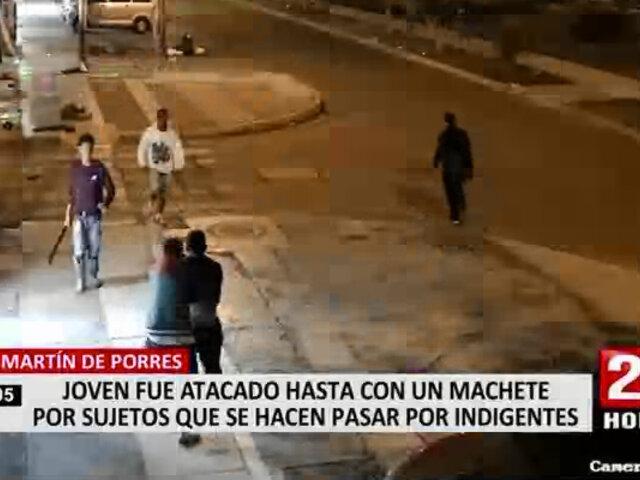 SMP: ambulantes golpearon a joven porque no quiso colaborar con limosna, según vecinos