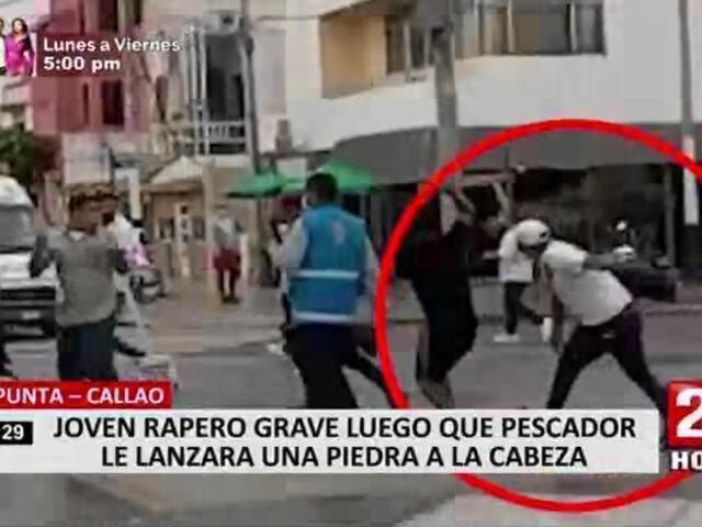 Hombre que casi mata a obrero permanece detenido en comisaría de La Punta