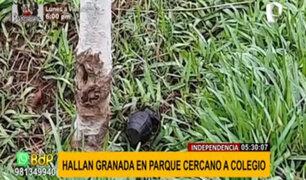 Alarma en Independencia: desactivan granada de guerra al frente de un colegio