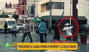 Callao: pescador lanza piedra a la cabeza de un joven rapero y lo deja grave