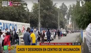 Largas colas en inicio de vacunación de adultos mayores de 63 años en varios puntos de Lima