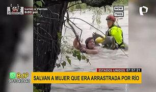 EEUU: rescatan a mujer arrastrada por río desbordado tras inundaciones en Texas