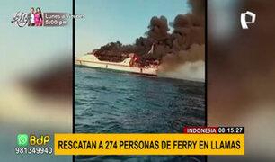 Indonesia: incendio en ferry casi acaba con la vida de 274 personas