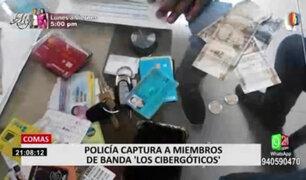 Comas: policía captura a miembros de banda 'Los cibergóticos'