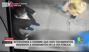 Cámara registra a sujeto realizándole tocamientos indebidos a dos menores en el Callao
