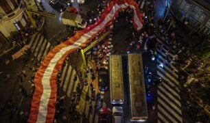 Marcha contra la candidatura de Keiko Fujimori se realizó en la Plaza San Martín