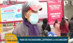 Paro de vacunadores: adultos mayores hicieron cola desde la madrugada en San luis