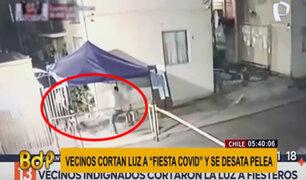 Chile: vecinos cortan luz a extranjeros que realizaban fiesta COVID y se desata pelea