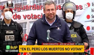 """ONPE rechaza irregularidad en el padrón electoral: """"los muertos no votan"""""""