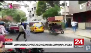 Piura: comuneros desatan batalla campal frente a registros públicos