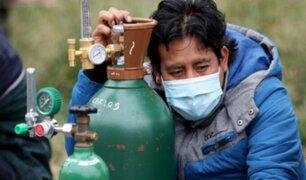 Desesperación en Bolivia por escasez de oxígeno medicinal para pacientes con COVID-19