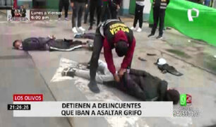 Los Olivos: PNP detuvo a delincuentes que iban a robar grifo