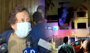 Miraflores: Se incendia departamento donde una anciana vivía sola