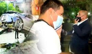 Auto se estrella en la Plaza San Martín y conductor agrede a reportero de BDP