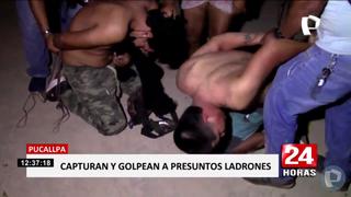 Pucallpa: vecinos capturan y dan tremenda golpiza a ladrones