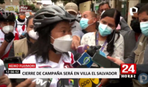 Keiko Fujimori rechazó un cierre de campaña virtual