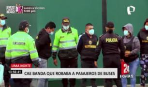 Lima Norte: cae banda que robaba a pasajeros de buses de transporte público