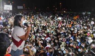 Piura: así se desarrolló mitin de Keiko Fujimori en Sullana
