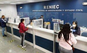 Reniec entregará DNI sin previa cita hasta el mismo día de las elecciones