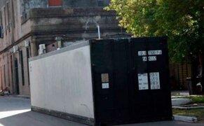 Instalan conteiner frigorífico en hospital de Argentina ante posible desborde de fallecidos