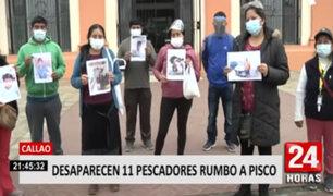Callao: desaparecen 11 pescadores que se dirigían a Pisco
