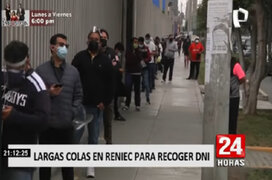 Ciudadanos forman largas colas en Reniec para recoger DNI