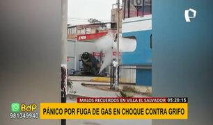 VES: choque en grifo causa pánico ante fuga de gas