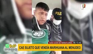 SJM: vendedor de droga al menudeo quiso sobornar a la Policía para no ser detenido