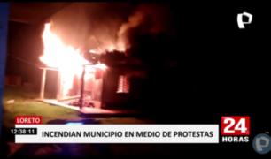 Iquitos: incendian municipio distrital por cortes de electricidad
