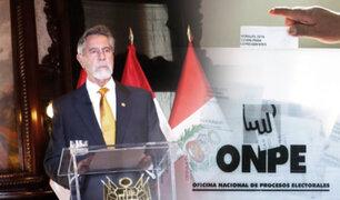 Presidente Sagasti: Hago un llamado a los que están candidateando a respetar los resultados oficiales