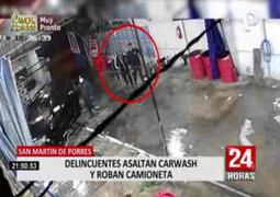 Robo de camioneta en carwash: víctima no descarta seguimiento previo
