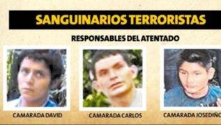 PNP identificó a tres terroristas de Sendero que ejecutaron la masacre del Vraem