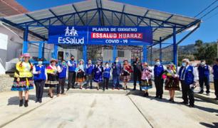 Huaraz: ponen en funcionamiento nueva villa para pacientes COVID 19 y 2 plantas de oxígeno