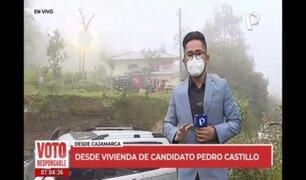 Pedro Castillo iniciará jornada electoral tomando desayuno en su natal Cajamarca