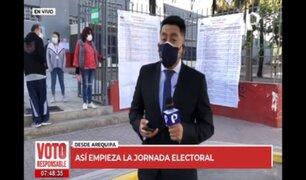 Arequipa: así empieza la jornada electoral en la Ciudad Blanca