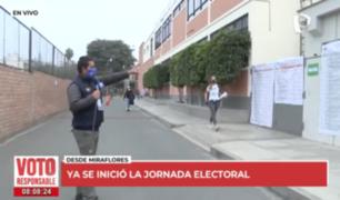 Así inició la jornada electoral en el distrito de Miraflores