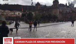 Cusco: cierran Plaza de Armas por prevención durante jornada electoral