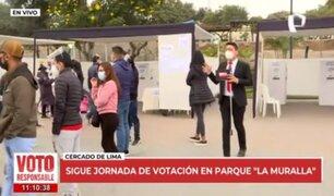 Cercado de Lima: Así se desarrolla la jornada electoral en el Parque La Muralla