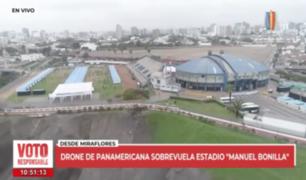 Estadio Manuel Bonilla: cerca de 70 mesas de votación fueron instaladas