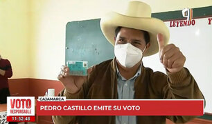 Pedro Castillo emitió su voto y anunció que recibirá el flash electoral en su comunidad