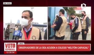 Lince: observadores de la OEA acuden al colegio Melitón Carvajal