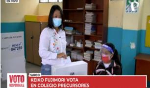 Keiko Fujimori: así fue votación de candidata en Surco